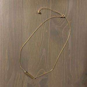 Jewelry - Bar Necklace - Horizontal - Gold Toned ~ 16 in